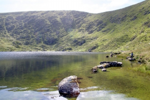 Angeln am Lough Mount Eagle auf Dingle