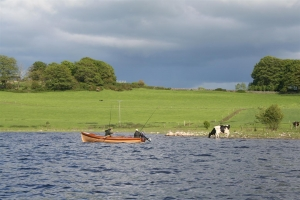 Bootsangler am Lough Ree