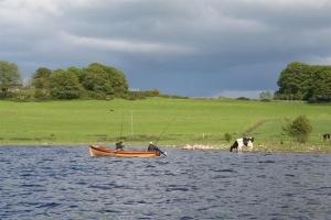 Bootsangler am Lough Ree