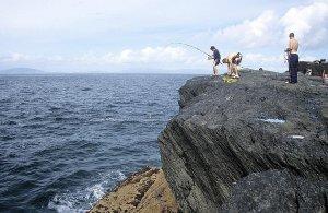 Makrelenangeln am Culoo Rock auf Valentia Island