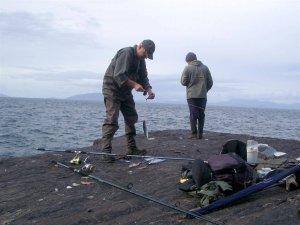Angler am Culoo Rock auf Valentia Island